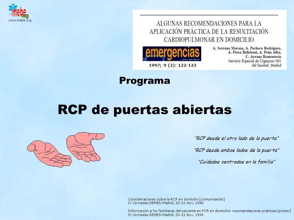 Programa RCP de puertas abiertas