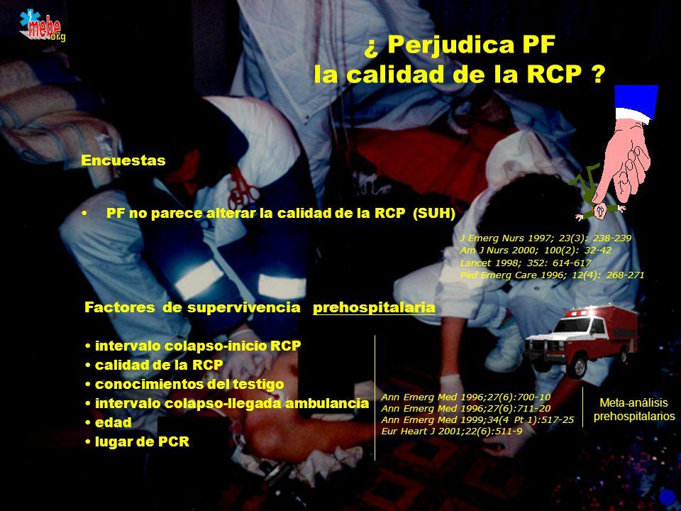 ¿ Perjudica PF la calidad de la RCP