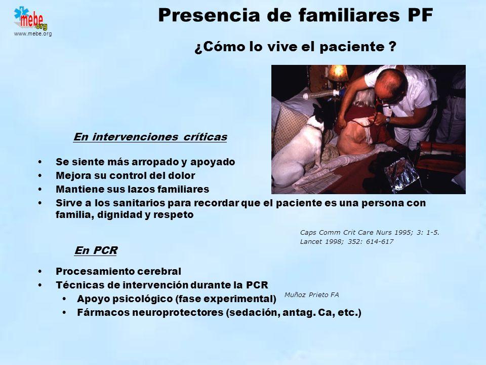 Presencia de familiares PF