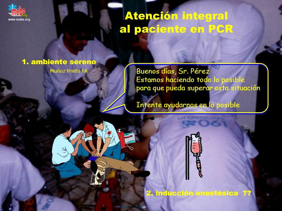 Atención integral al paciente en PCR