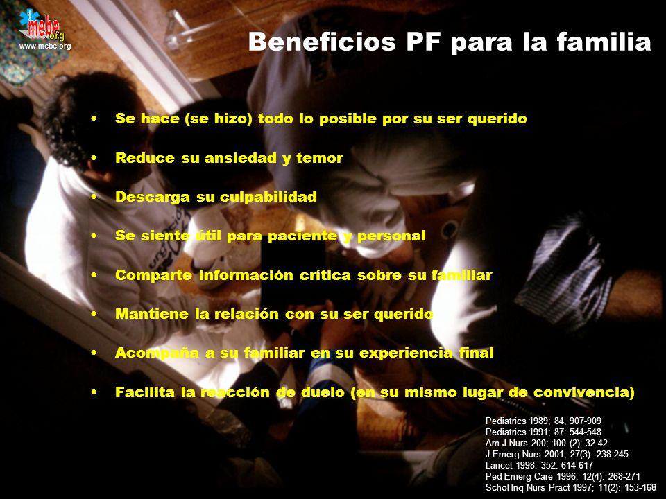 Beneficios PF para la familia
