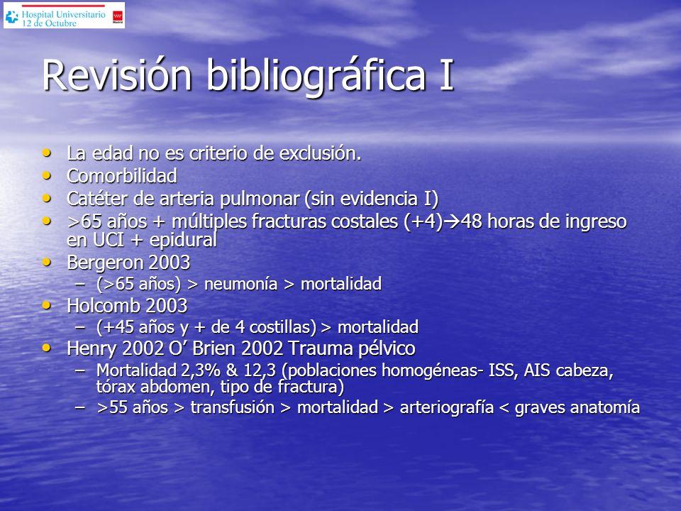 Revisión bibliográfica I