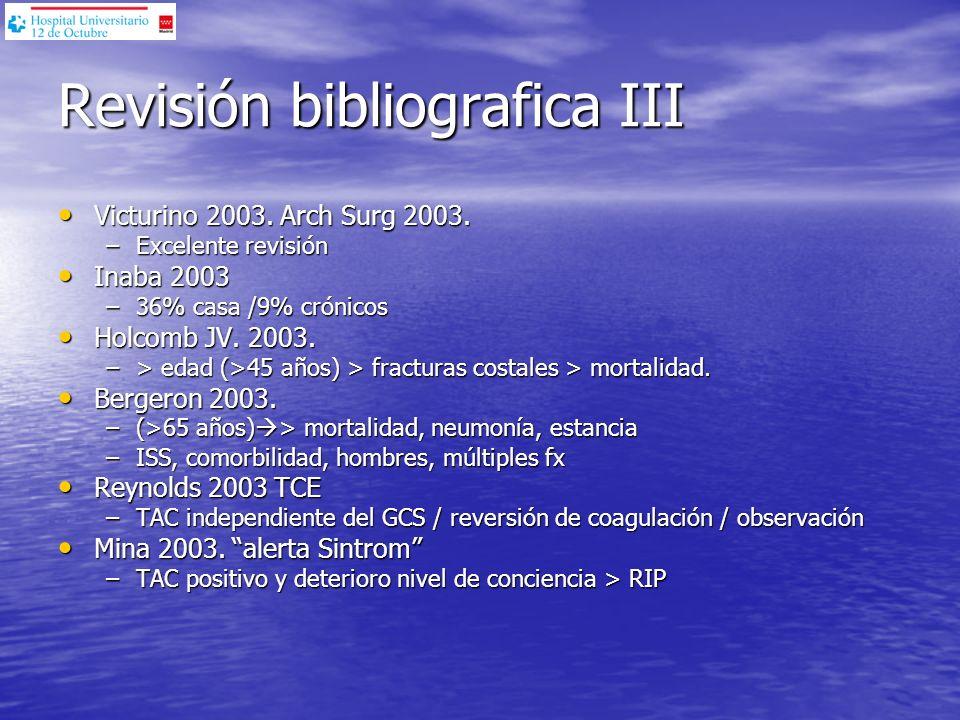 Revisión bibliografica III