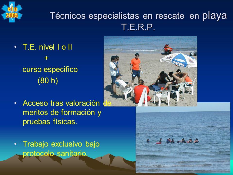 Técnicos especialistas en rescate en playa T.E.R.P.
