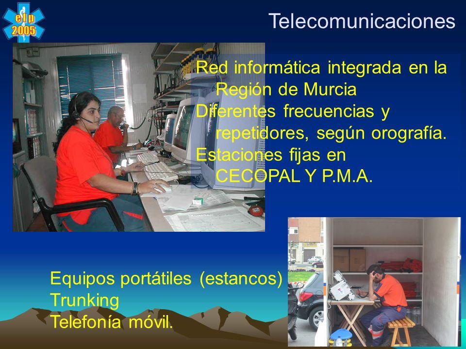 x Telecomunicaciones Red informática integrada en la Región de Murcia