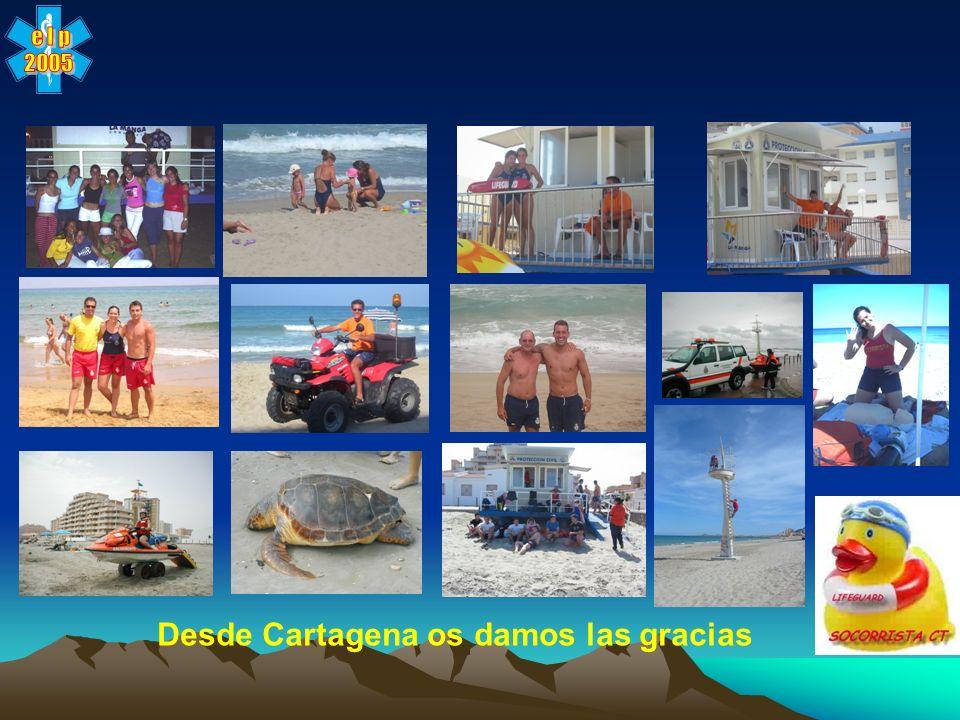 Desde Cartagena os damos las gracias