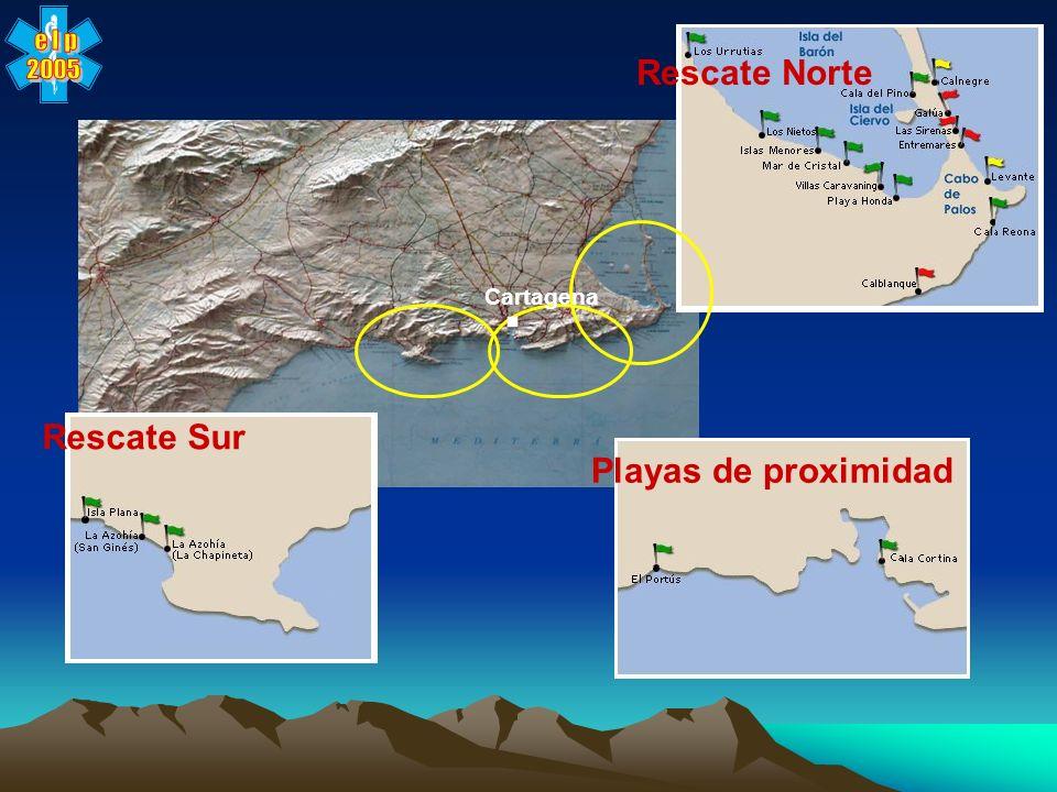 e l p 2005 Rescate Norte . Cartagena Rescate Sur Playas de proximidad