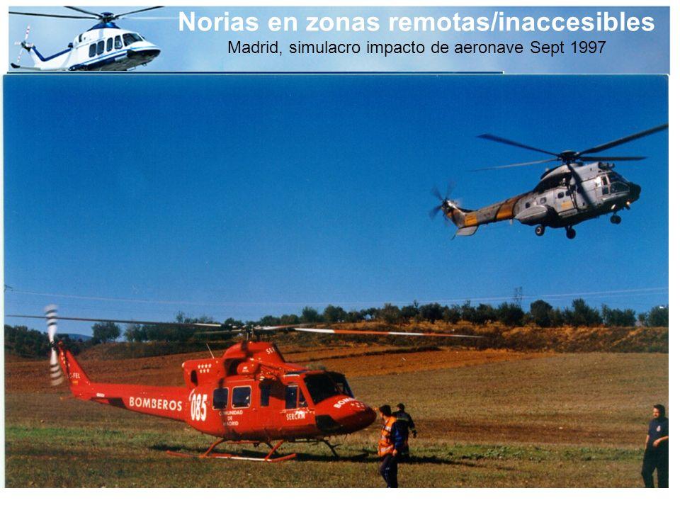 Norias en zonas remotas/inaccesibles Madrid, simulacro impacto de aeronave Sept 1997
