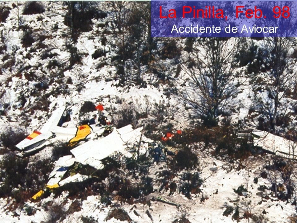 La Pinilla, Feb. 98 Accidente de Aviocar