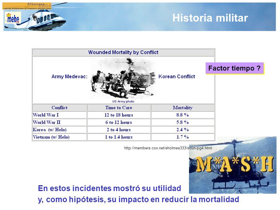 Historia militar En estos incidentes mostró su utilidad