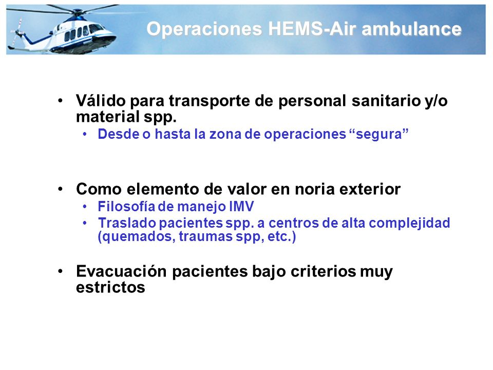 Operaciones HEMS-Air ambulance