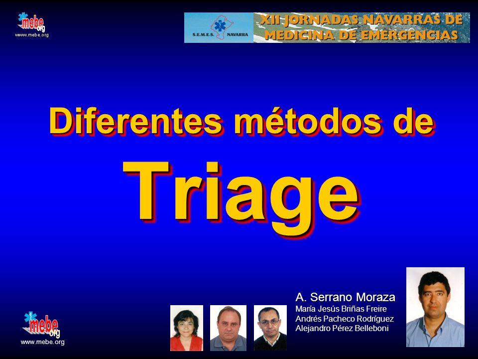 Diferentes métodos de Triage