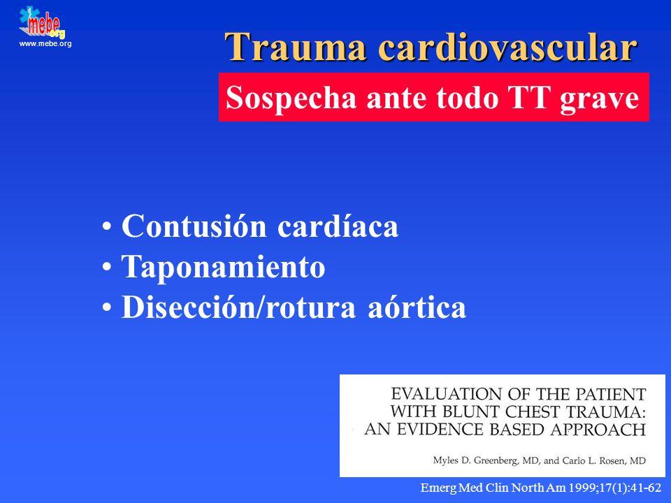 Trauma cardiovascular