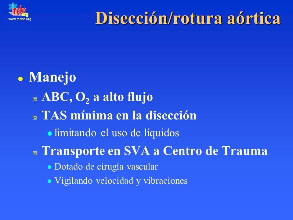 Disección/rotura aórtica