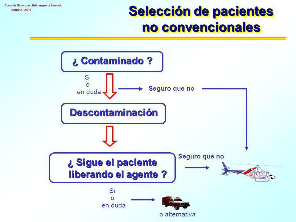 Selección de pacientes no convencionales
