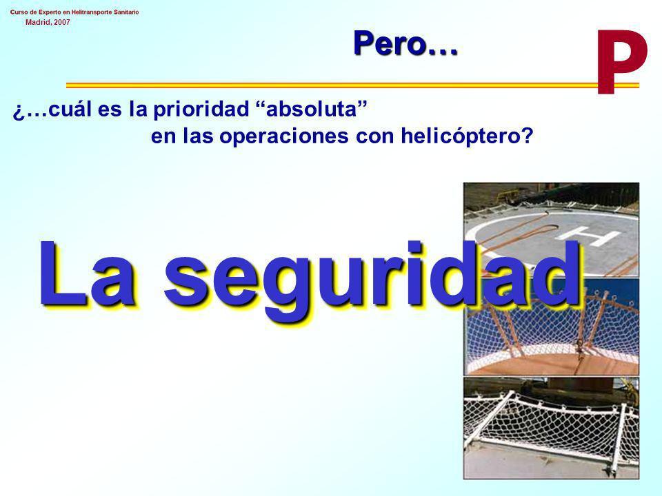 Pero… P ¿…cuál es la prioridad absoluta en las operaciones con helicóptero La seguridad