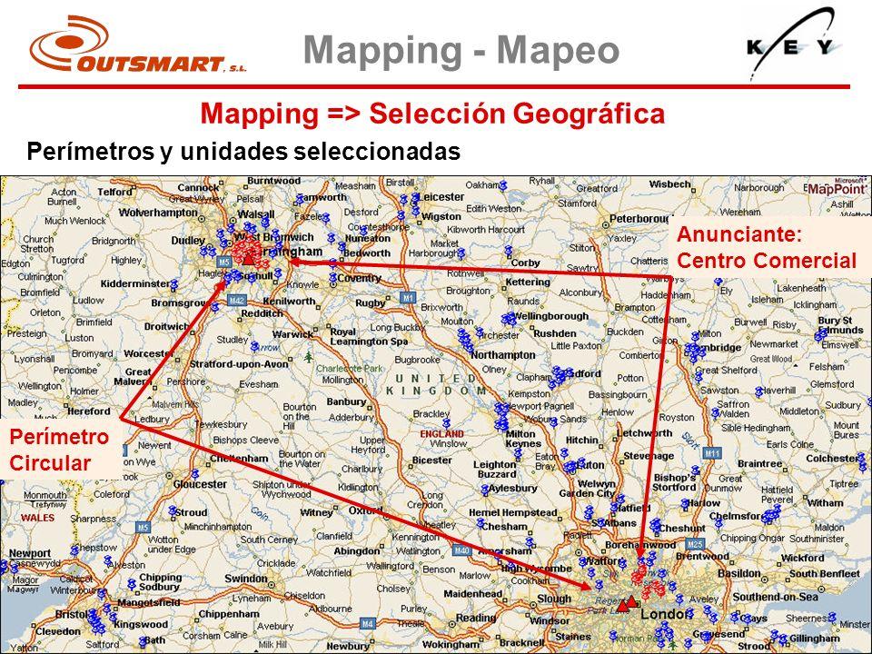 Mapping => Selección Geográfica