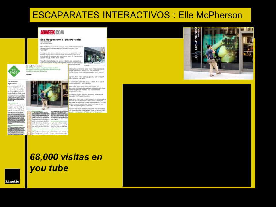 ESCAPARATES INTERACTIVOS : Elle McPherson