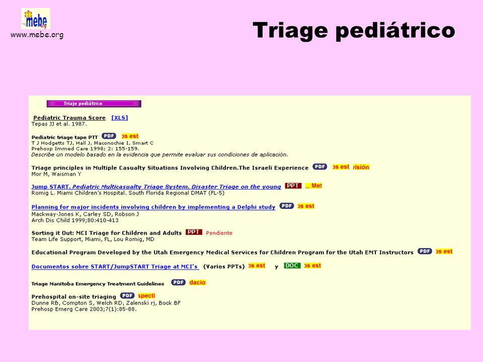 Triage pediátrico