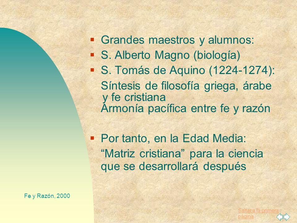 Grandes maestros y alumnos: S. Alberto Magno (biología)