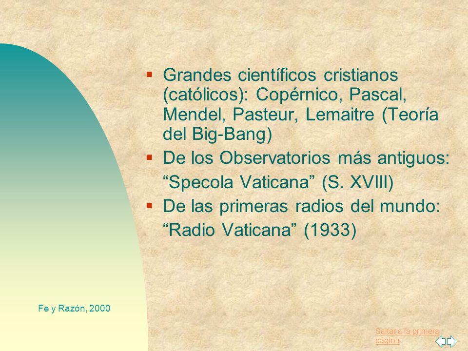 De los Observatorios más antiguos: Specola Vaticana (S. XVIII)