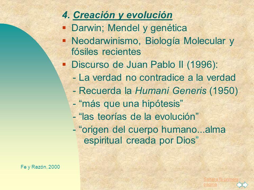 Darwin; Mendel y genética