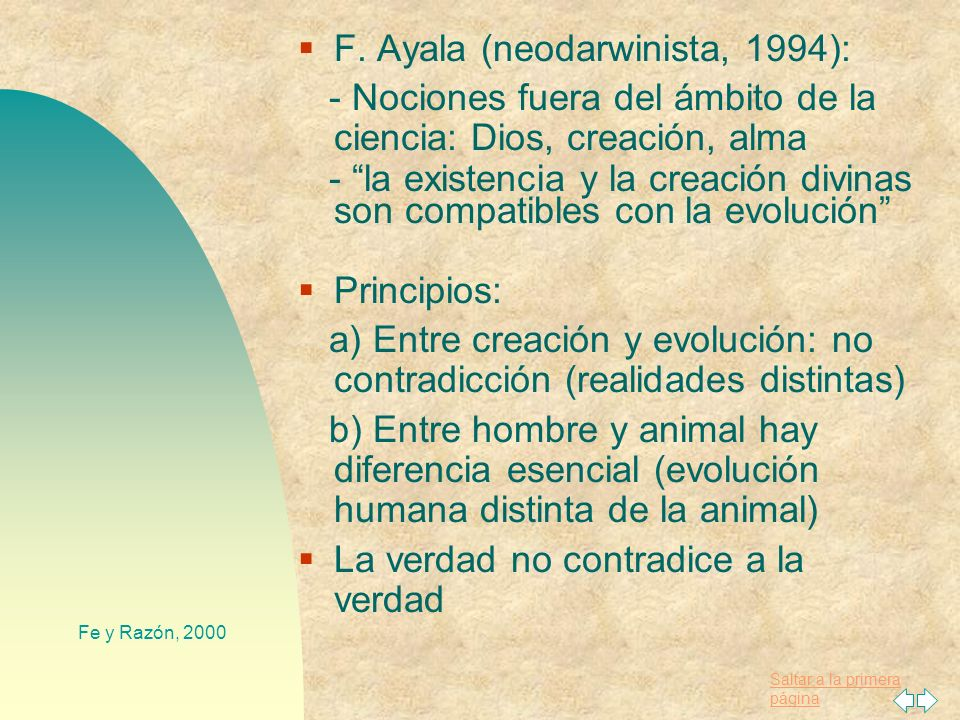 F. Ayala (neodarwinista, 1994):