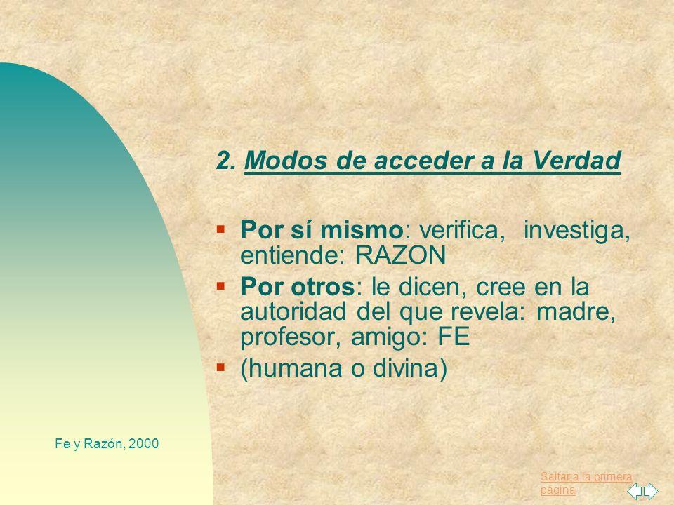 2. Modos de acceder a la Verdad