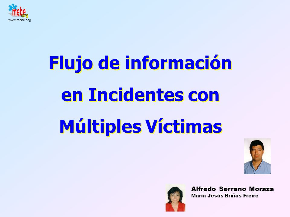 Flujo de información en Incidentes con Múltiples Víctimas