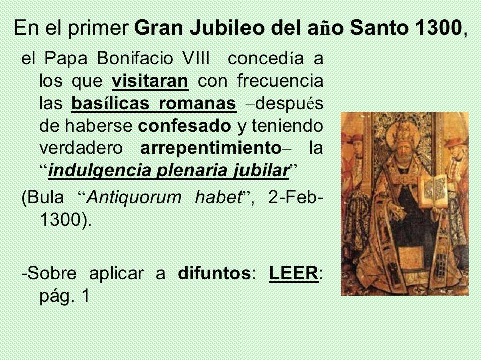 En el primer Gran Jubileo del año Santo 1300,