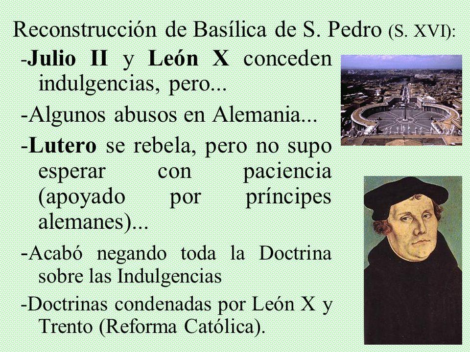 Reconstrucción de Basílica de S. Pedro (S. XVI):