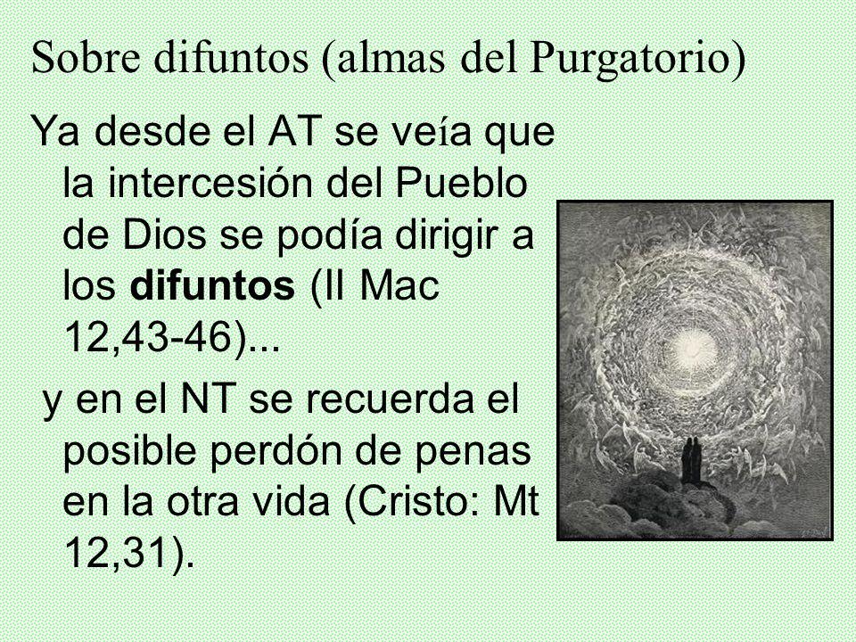 Sobre difuntos (almas del Purgatorio)