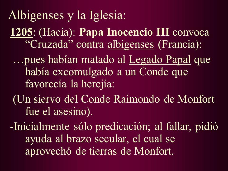 Albigenses y la Iglesia: