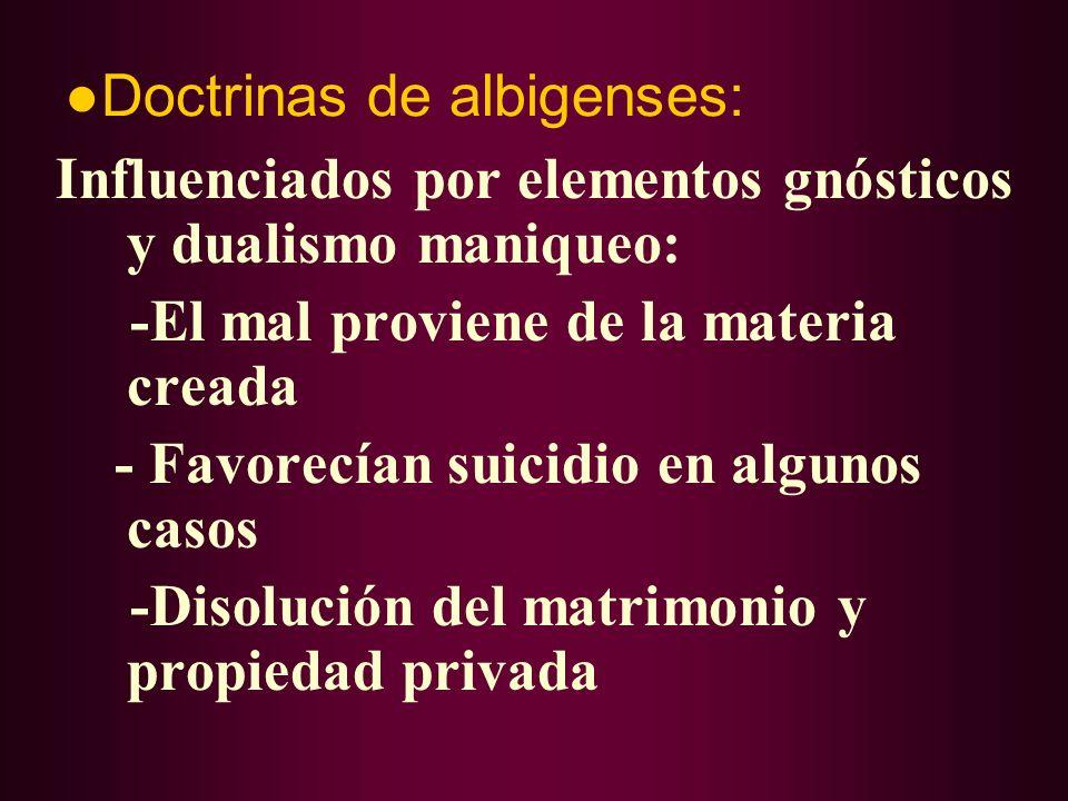 ●Doctrinas de albigenses: