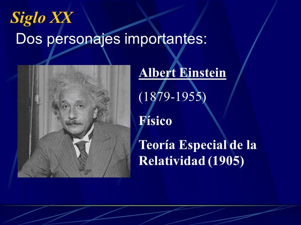 Siglo XX Dos personajes importantes: Albert Einstein (1879-1955)
