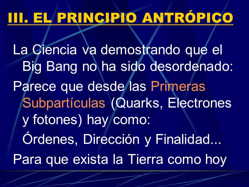 III. EL PRINCIPIO ANTRÓPICO