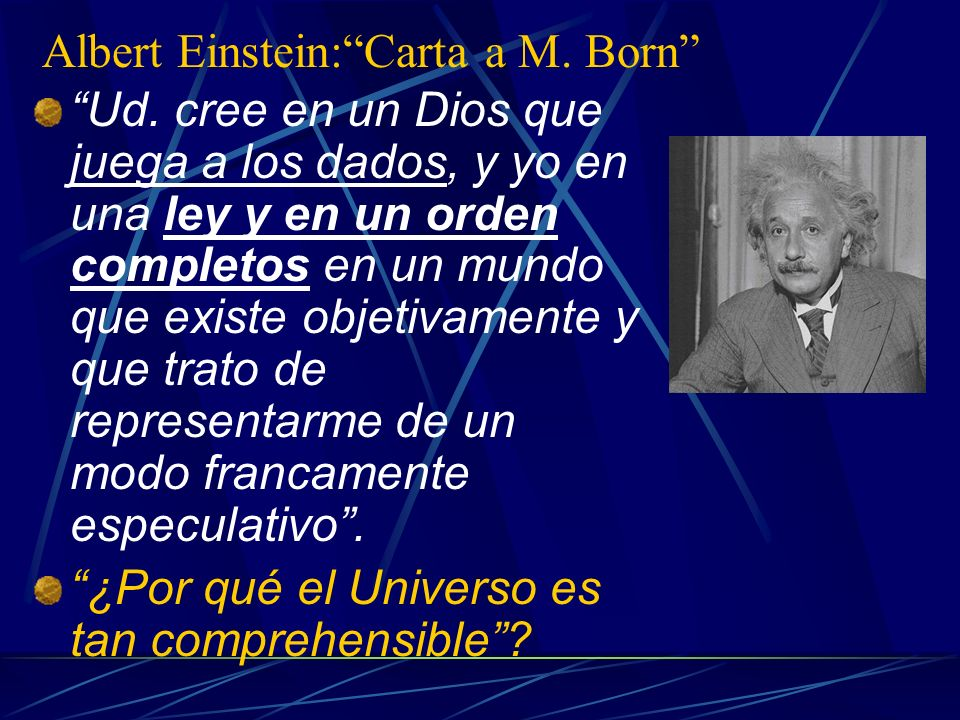 Albert Einstein: Carta a M. Born