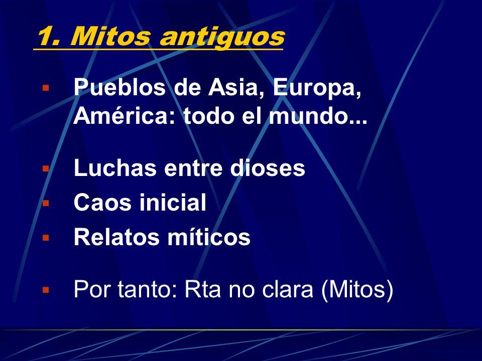 1. Mitos antiguos Pueblos de Asia, Europa, América: todo el mundo...