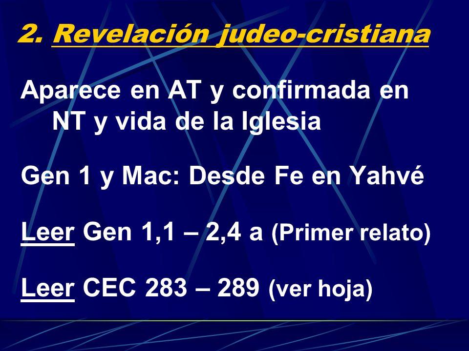 2. Revelación judeo-cristiana