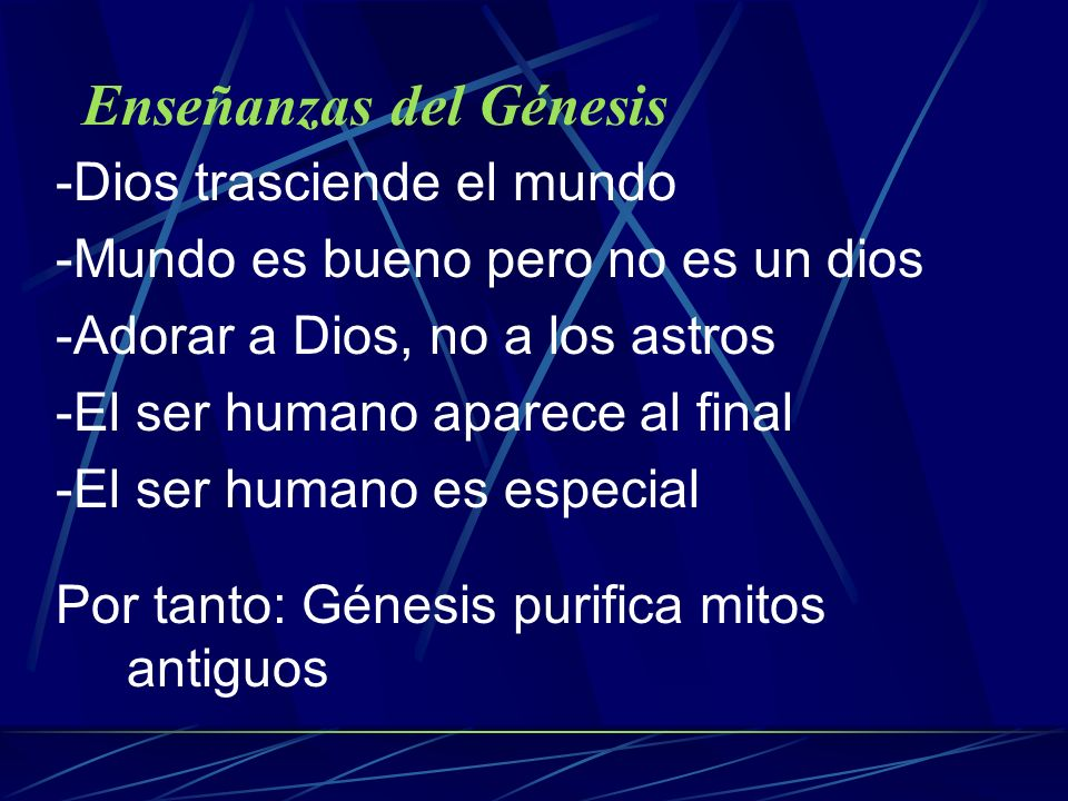 Enseñanzas del Génesis