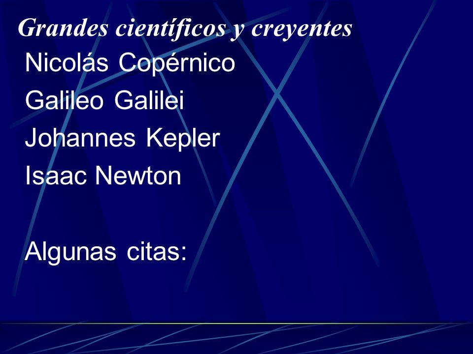 Grandes científicos y creyentes