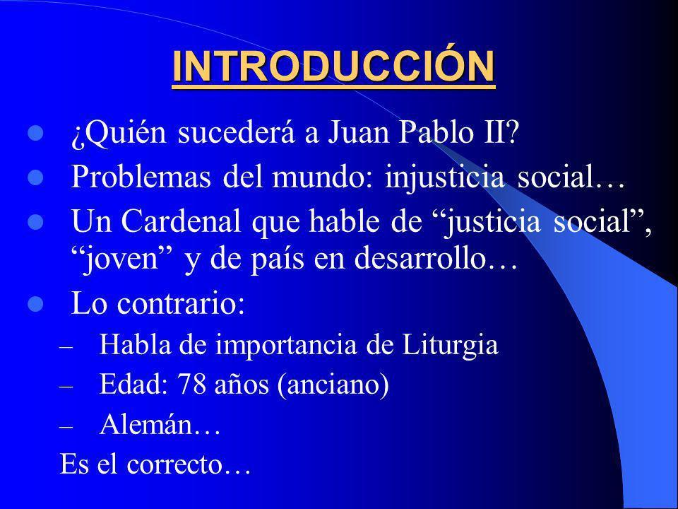 INTRODUCCIÓN ¿Quién sucederá a Juan Pablo II