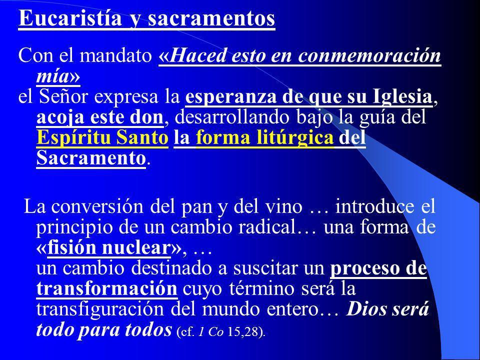 Eucaristía y sacramentos