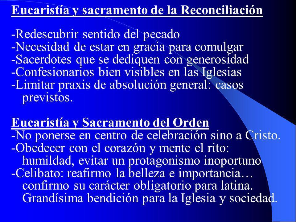 Eucaristía y sacramento de la Reconciliación