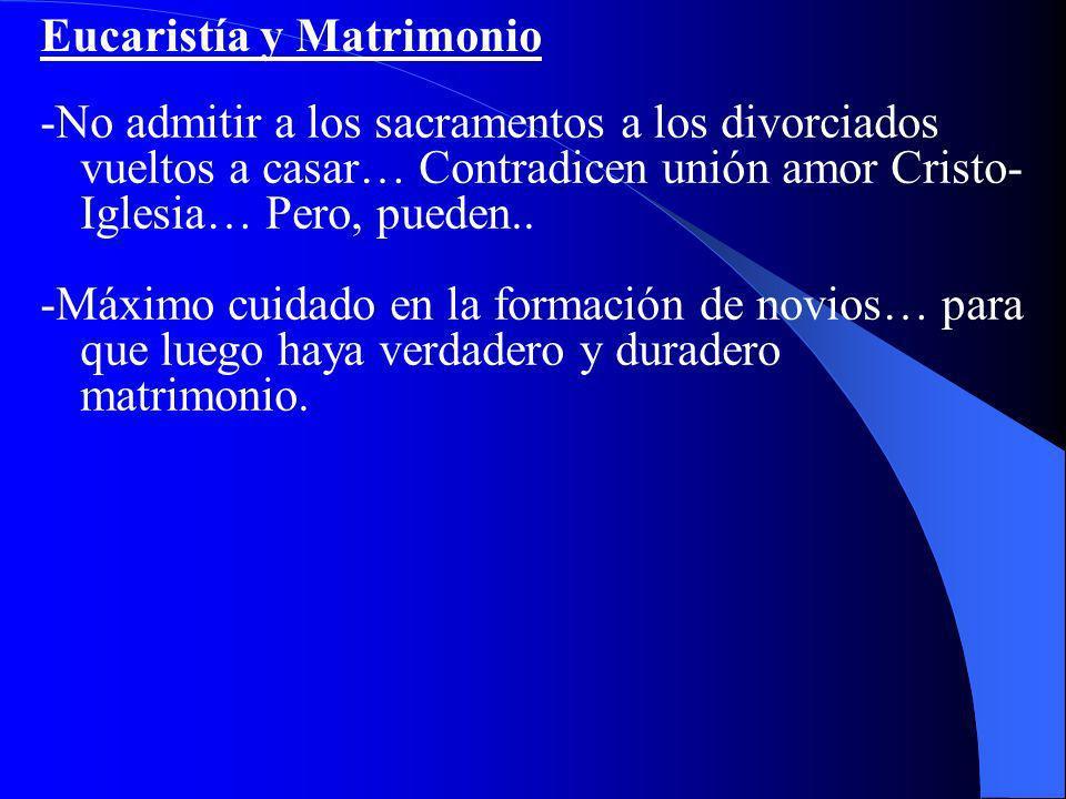 Eucaristía y Matrimonio