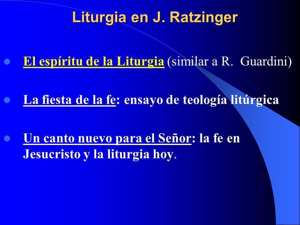 Liturgia en J. Ratzinger