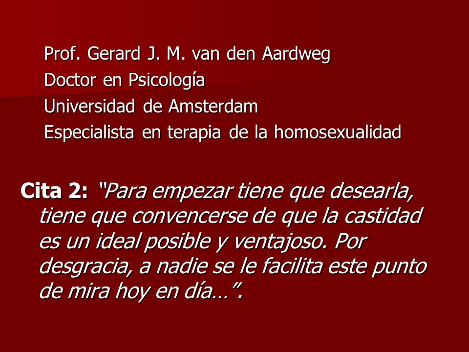 Prof. Gerard J. M. van den Aardweg