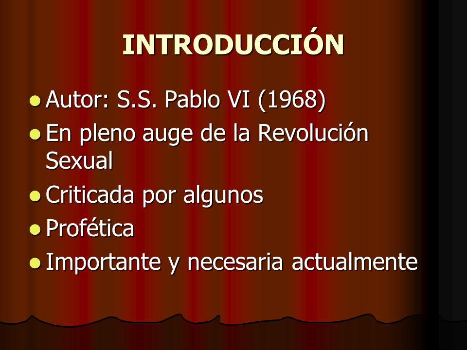 INTRODUCCIÓN Autor: S.S. Pablo VI (1968)