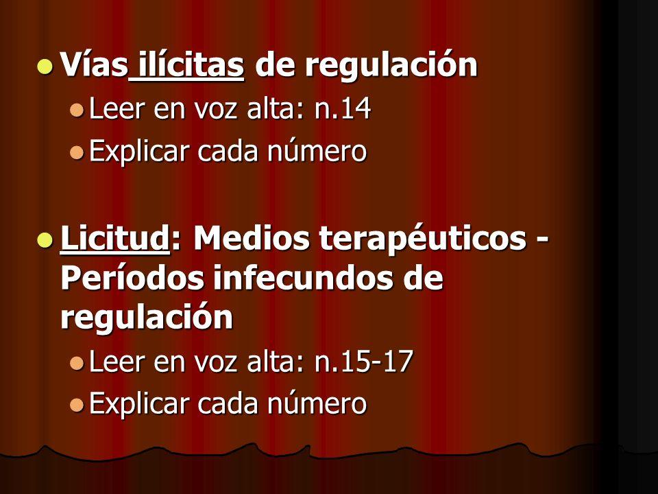 Vías ilícitas de regulación