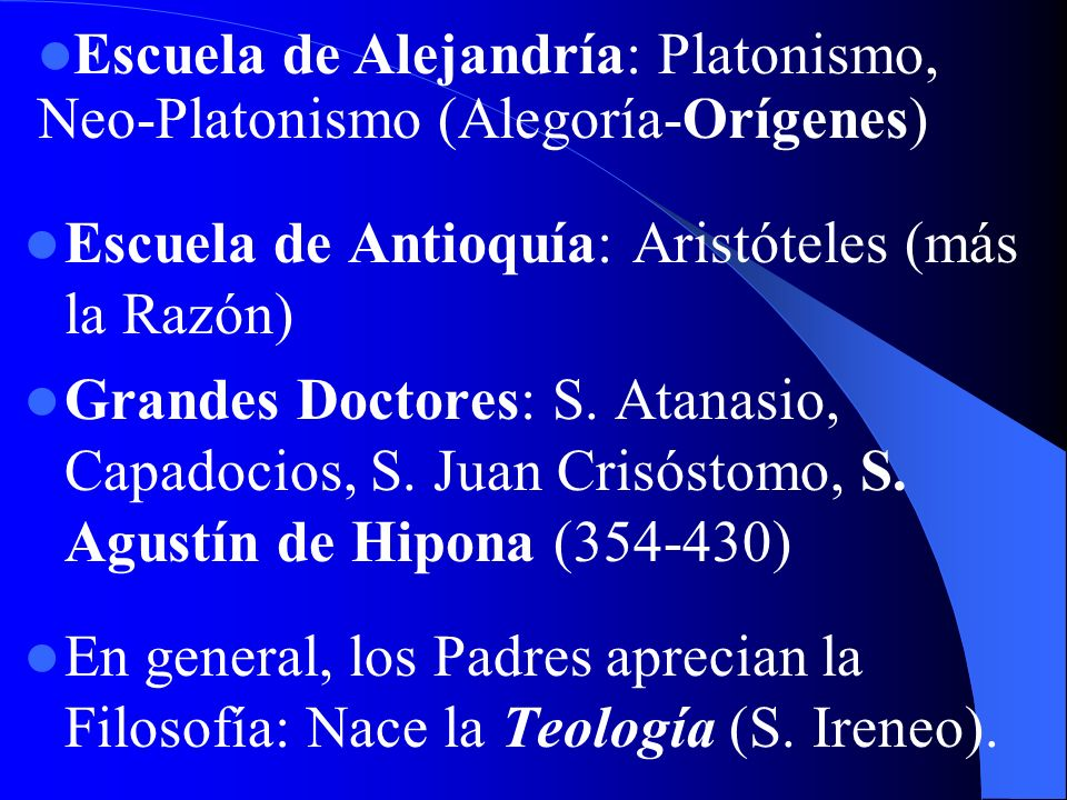 Escuela de Alejandría: Platonismo, Neo-Platonismo (Alegoría-Orígenes)